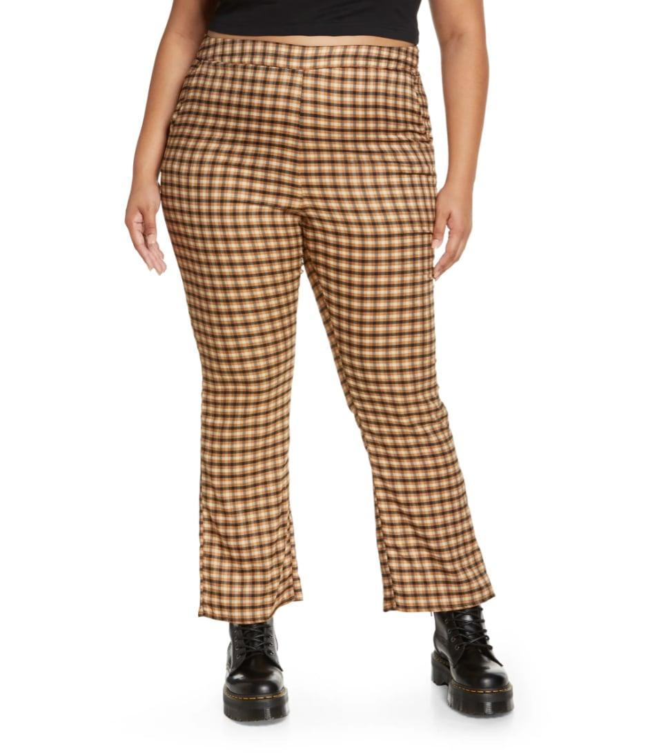 <p>We know Zoom tops are still having a moment, but we give you full permission to fancify your bottom half, too. These <span>BP. Flare Check Woven Pants</span> ($39) will look good with everything, from a crewneck sweater to a simple tee.</p>