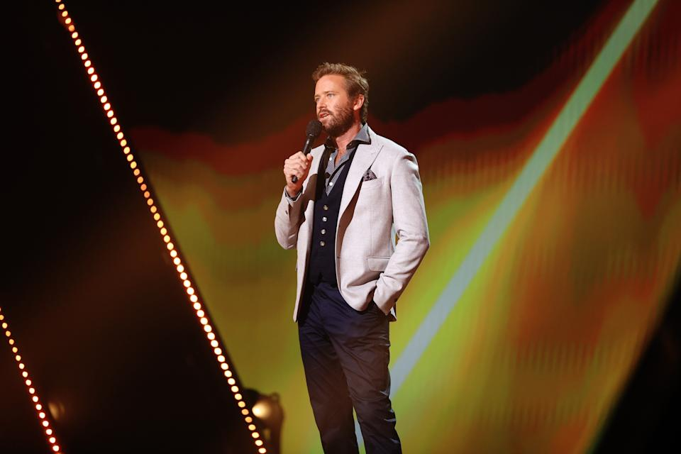 Armie Hammer speaks onstage at the E! People's Choice Awards, broadcast on Sunday, November 15, 2020. (Photo by Christopher Polk/E! Entertainment/NBCU Photo Bank via Getty Images)