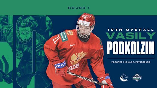 Canucks select Podkolzin 10th overall