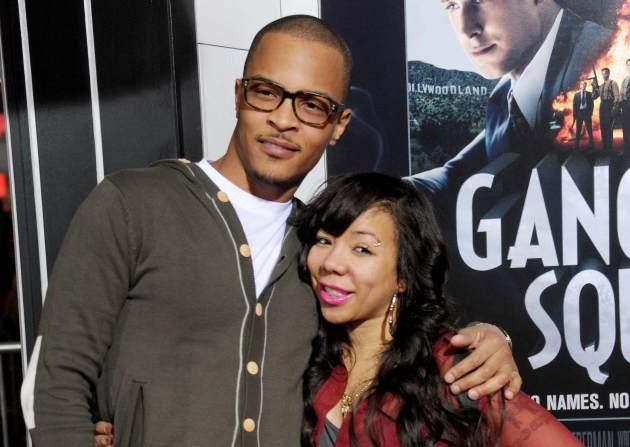 T.I. and Tameka 'Tiny' Cottle arrive at the Los Angeles premiere of 'Gangster Squad' at Grauman's Chinese Theatre on January 7, 2013 in Hollywood -- Getty Premium