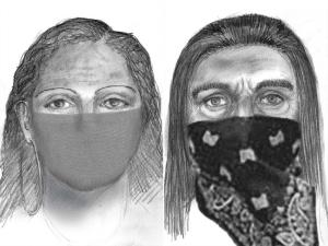 Sketches of the suspected abductors in Sherri Papini's disappearance