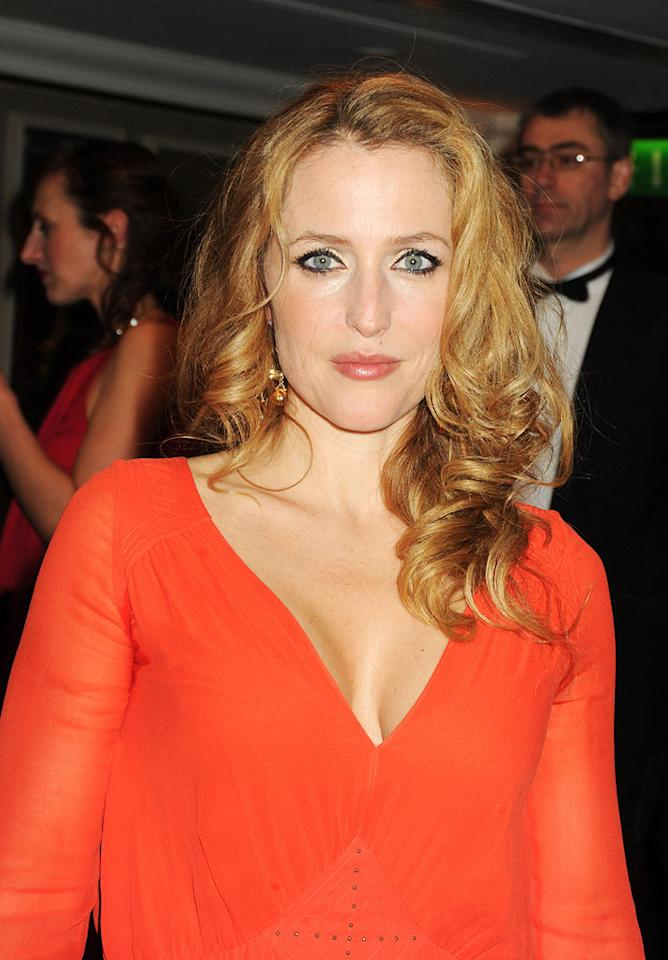 """Gillian Anderson, who played Scully on """"The X-Files,"""" will be 42 on August 9, just two days after her former co-star David Duchovny's big day. Do you think they'll reunite for the occasion? Dave M. Benett/<a href=""""http://www.gettyimages.com/"""" target=""""new"""">GettyImages.com</a> - March 21, 2010"""