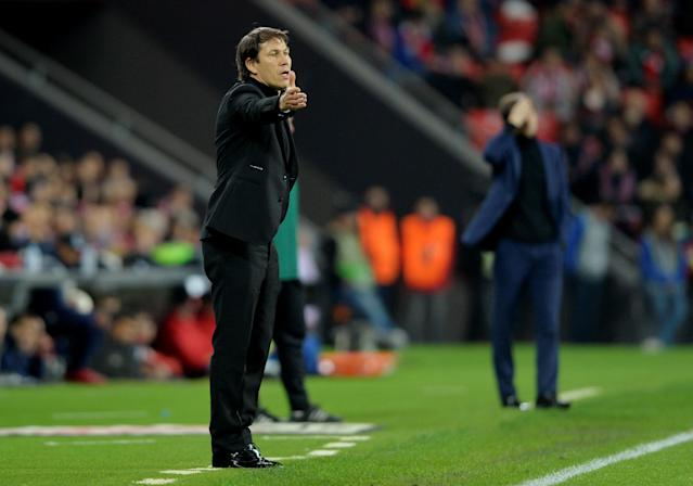 Soccer Football - Europa League Round of 16 Second Leg - Athletic Bilbao vs Olympique de Marseille - San Mames, Bilbao, Spain - March 15, 2018 Marseille coach Rudi Garcia REUTERS/Vincent West