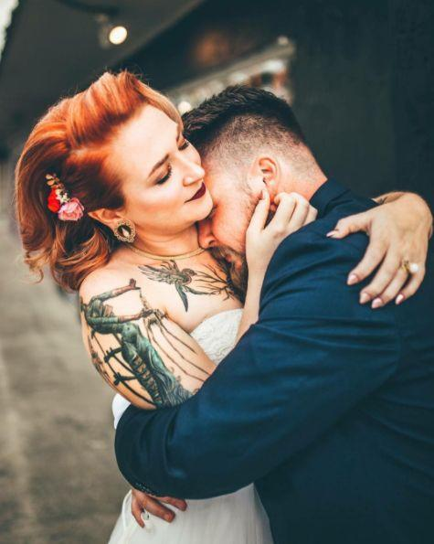 """Justine and David were completely overwhelmed by their emotions. Nick and I both couldn't help but cry during the first look while these two held each other so tightly."" -- <i>Lauren Laveria of Nick and Lauren Photography</i>"