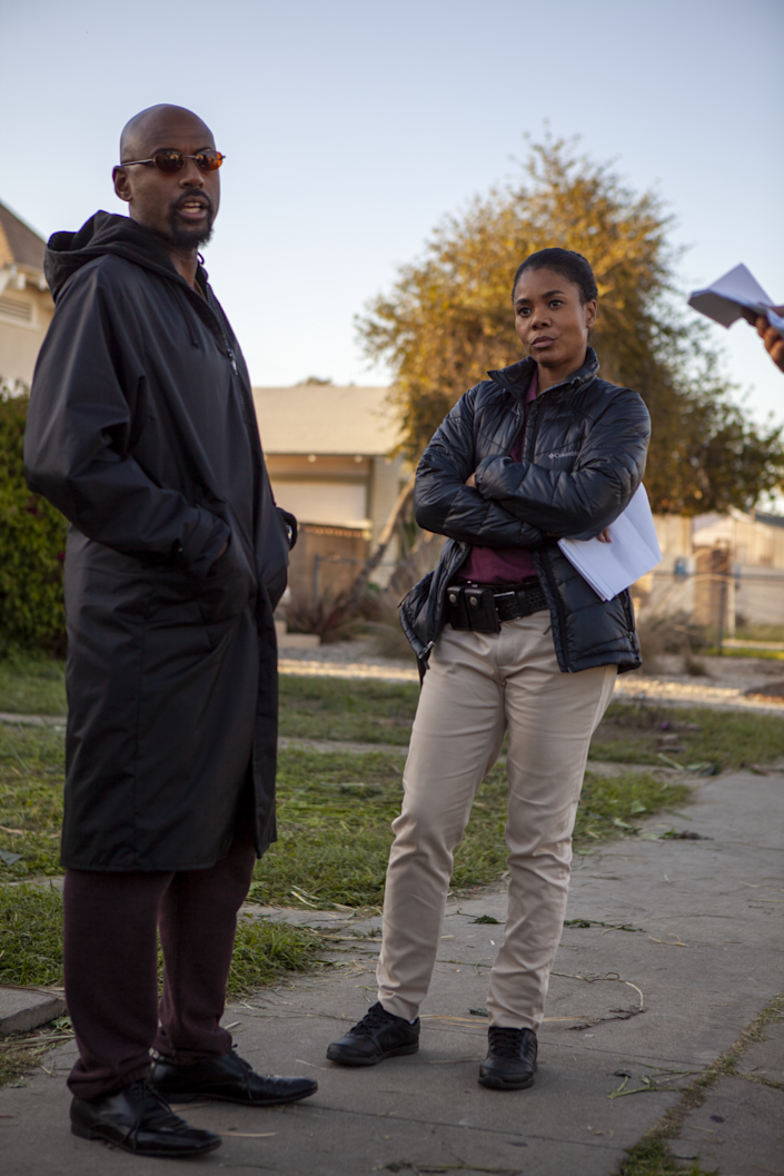 "Regina Hall Tijuana's parole officer (and crush), Cheryl Wagner. Malco made a point to include the fees and stipulations that parole entails. <span class=""copyright"">(Geoff Browne)</span>"