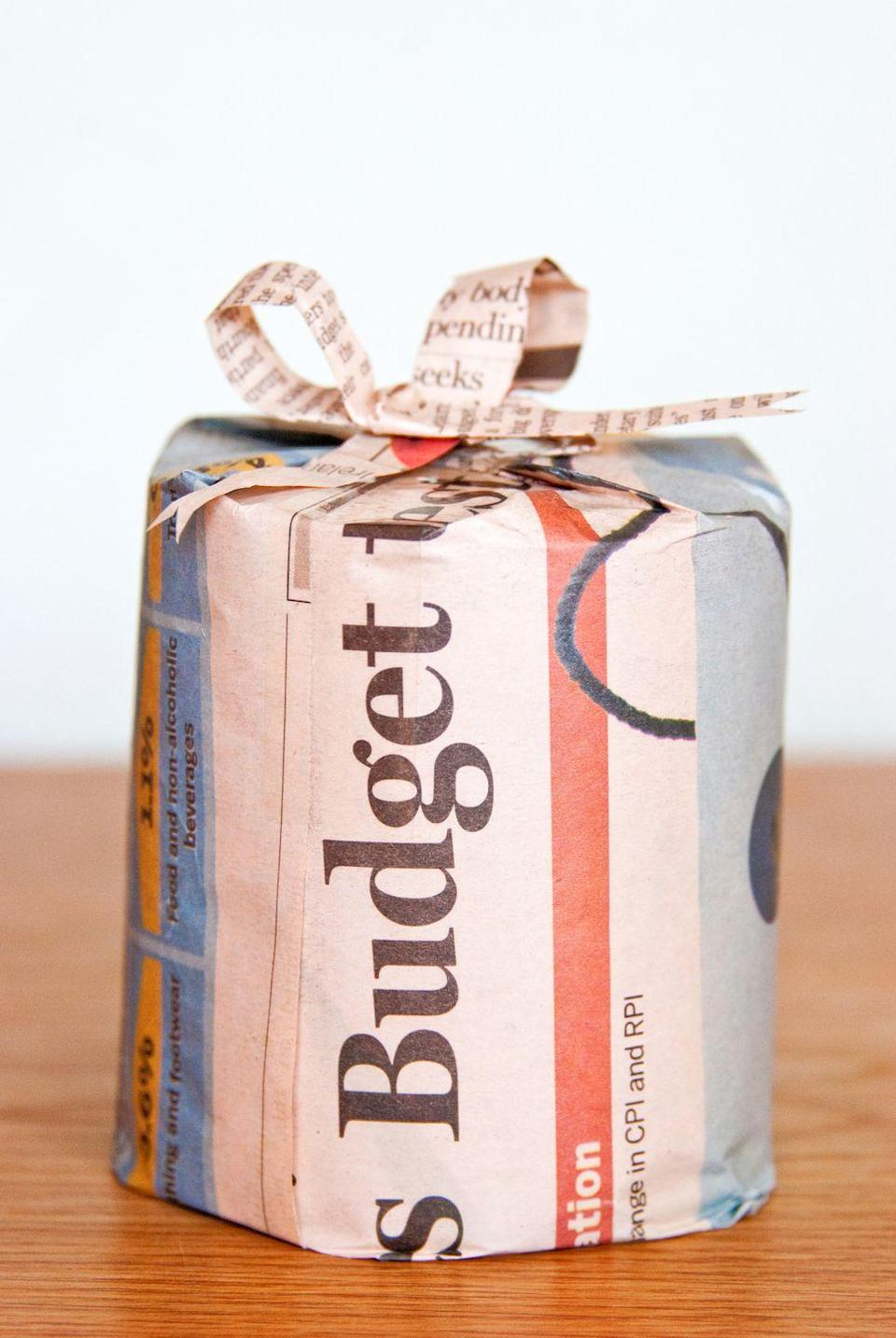 <p>Get really creative with the next birthday present by wrapping it in newspaper from the day they were born (you can print out a copy from the archives!). </p>