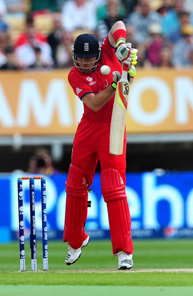 England's Ian Bell during the ICC Champions Trophy match at Edgbaston, Birmingham.