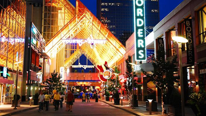 Fourth Street Live in Louisville, Kentucky, has become a destination for shopping, dining and entertainment.