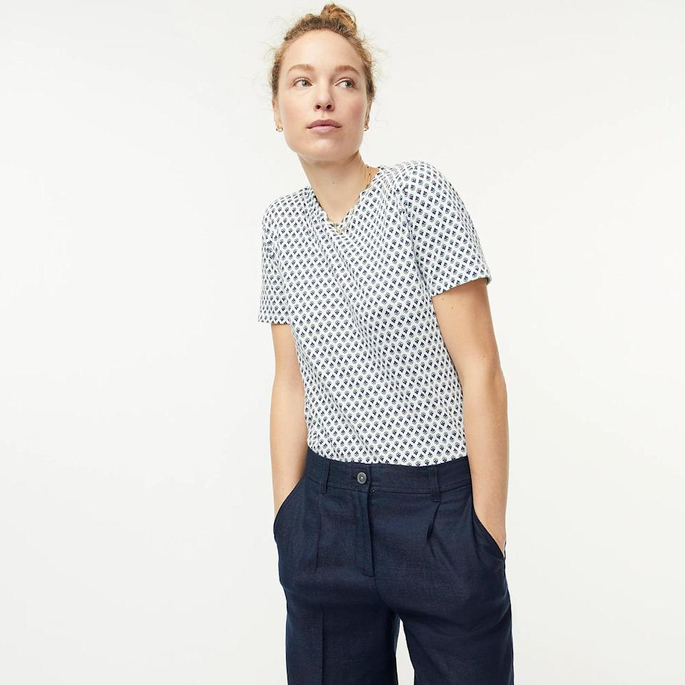 <p>Whether you pair this <span>Cotton Crewneck T-Shirt</span> ($15, originally $40 (plus extra 60% off with code SALETIME) with trousers for a casual Friday at the office, or with shorts for some laidback weekend plans, you'll look and feel effortless.</p>
