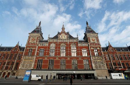 FILE PHOTO: View of Central train station of Amsterdam,