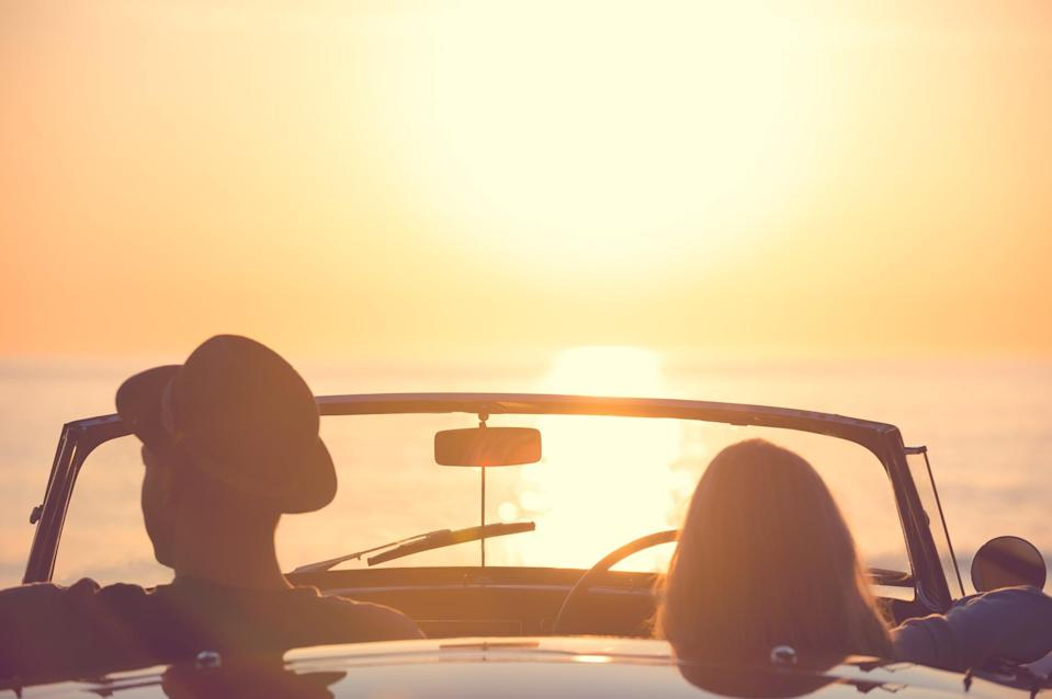 <p>Watching the sunset is calming, romantic, and will create a beautiful memory for you and your partner to cherish forever. Find a private area to park and soak in the sky as it turns from blue to a gorgeous sea of orange, yellow, and purple.</p>