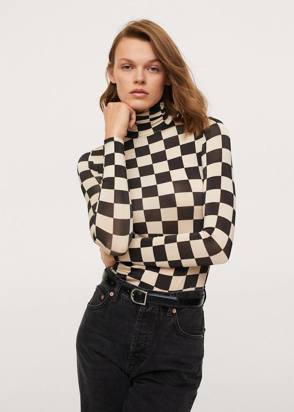 <p>This <span>Turtleneck T-Shirt</span> ($50) is easily the coolest one we've seen today. The pattern makes it playful, while the silhouette makes it an ideal choice for fall.</p>