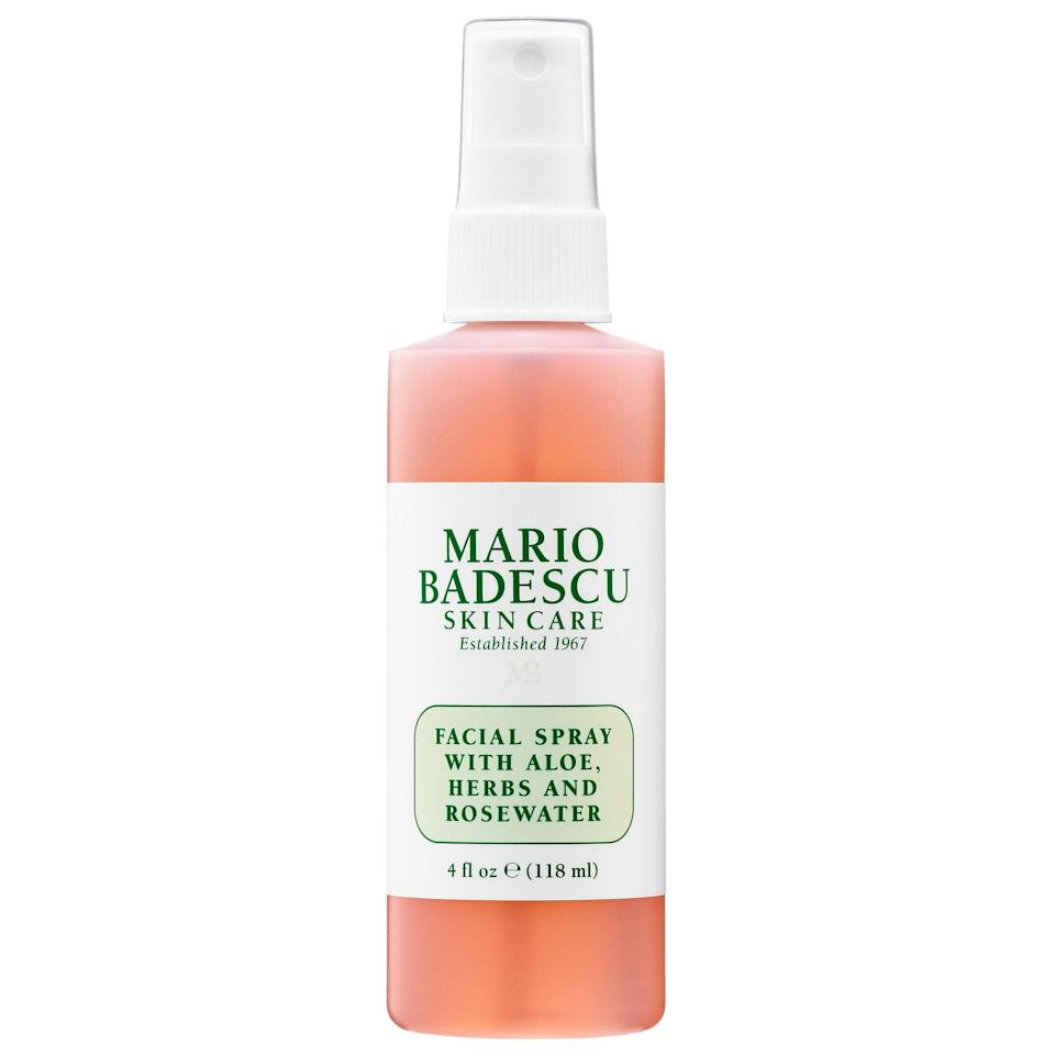 """<p><strong>Mario Badescu</strong></p><p>sephora.com</p><p><strong>$7.00</strong></p><p><a href=""""https://go.redirectingat.com?id=74968X1596630&url=https%3A%2F%2Fwww.sephora.com%2Fproduct%2Ffacial-spray-with-aloe-herbs-rosewater-mini-P444967&sref=http%3A%2F%2Fwww.womansday.com%2Flife%2Ftravel-tips%2Fg3239%2Ftravel-gifts-women%2F"""" rel=""""nofollow noopener"""" target=""""_blank"""" data-ylk=""""slk:Shop Now"""" class=""""link rapid-noclick-resp"""">Shop Now</a></p><p>Planes notoriously dry out skin, but this facial mist will have her feeling hydrated and refreshed.</p>"""