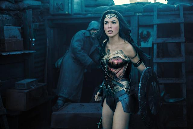 """Warner Bros. is <span>plotting a campaign</span>in hopesof anointing""""Wonder Woman"""" the first superherospectacle nominated for Best Picture. It's a losing battle, even for a box-office behemoth whose feminist valuesregistered loudly amid a year of tumultuous political temperaments. But a Best Picturecrack also gives Gal Gadot a portal into the Best Actress derby. Hosting """"Saturday Night Live"""" wasn't the worst way to re-up her credentials."""