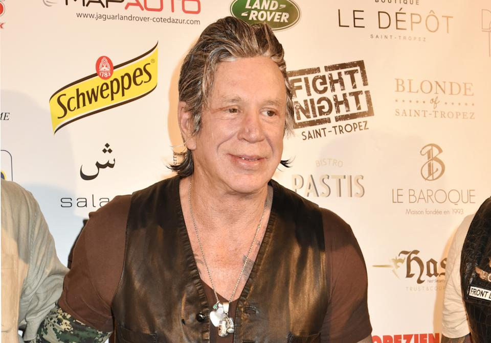 SAINT-TROPEZ, FRANCE - AUGUST 04:  Mickey Rourke attends the Fight Night 2016' : Gala At La Citadelle on August 4, 2016 in Saint-Tropez, France.  (Photo by Foc Kan/WireImage)