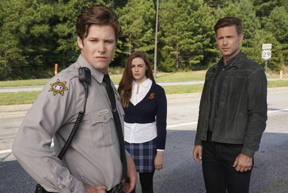 """<p>Though we're not sure we've ever seen a spinoff of a spinoff before, that is just what <strong>Legacies</strong> is. The drama centers around Hope Mikaelson (reprised by Danielle Rose Russell) in a spinoff of <strong>The Originals</strong> (which followed Hope's father and his two siblings), which is a spinoff of <strong>The Vampire Diaries</strong>. This CW series picks up two years after the events of <strong>The Originals</strong>, with a now-17-year-old Hope attending the Salvatore School For the Young and Gifted.</p> <p><a href=""""http://www.netflix.com/search?q=legaci&amp;jbv=81013015"""" class=""""link rapid-noclick-resp"""" rel=""""nofollow noopener"""" target=""""_blank"""" data-ylk=""""slk:Watch Legacies on Netflix now."""">Watch <strong>Legacies </strong>on Netflix now.</a></p>"""