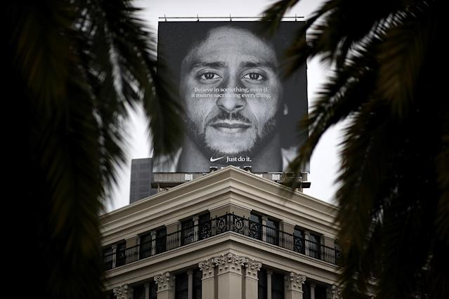 Nike's 2018 Colin Kaepernick ad was as polarizing as Charles Barkley's role model spot. (Getty)
