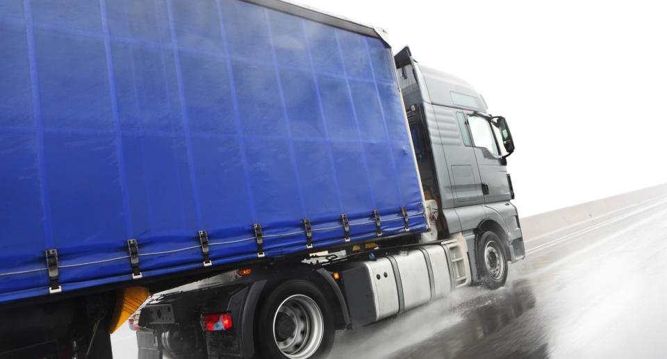 Stock image of a blue lorry truck. Source: Getty Images