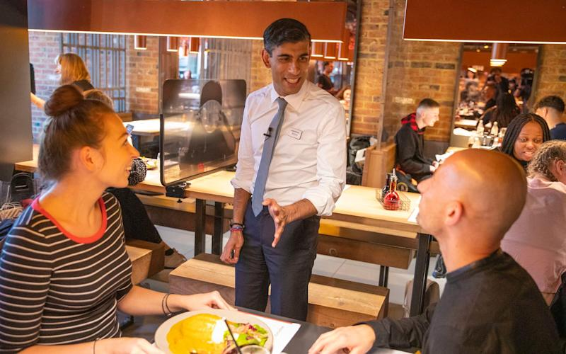 Free lunch: Chancellor Rishi Sunak announced 'eat out to help out' as part of his Covid recovery plan CREDIT: Simon Walker/HM Treasury - Simon Walker HM Treasury