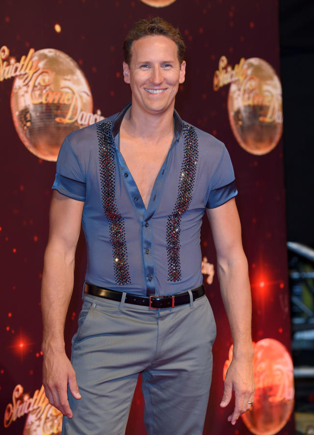 BOREHAMWOOD, ENGLAND - AUGUST 30: Brendan Cole arrives for the Red Carpet Launch of 'Strictly Come Dancing 2016' at Elstree Studios on August 30, 2016 in Borehamwood, England. (Photo by Karwai Tang/WireImage)