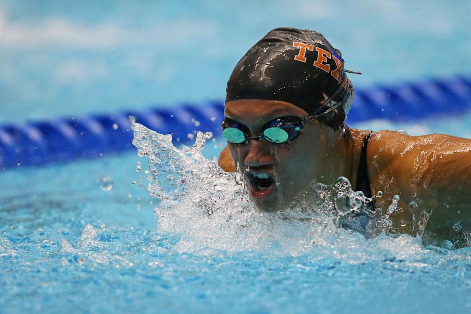 Jun 27, 2017; Indianpolis , IN, USA; Remedy Rule competes in the women's 200m butterfly during the 2017 USA Swimming Phillips 66 National Championships at Indiana University Natatorium. Mandatory Credit: Aaron Doster-USA TODAY Sports