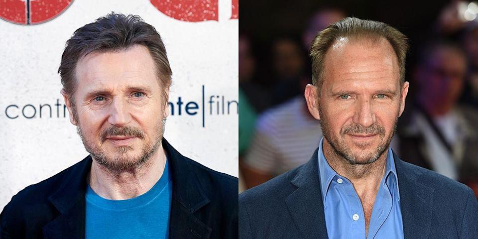 <p>With their piercing blue eyes and perfectly groomed facial hair, can you blame fans for mixing up Liam Neeson and Ralph Fiennes? </p>