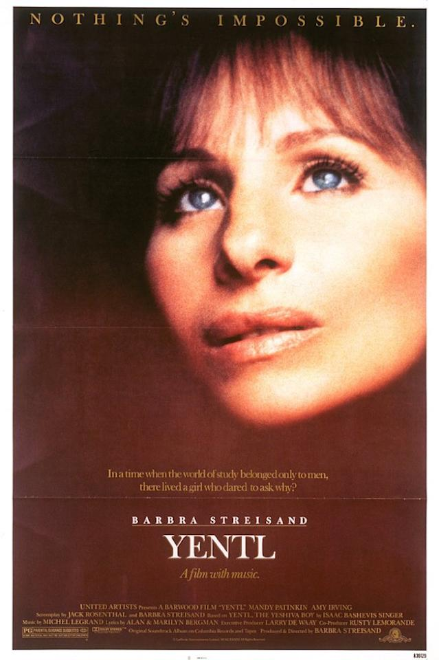 """<p>""""The Way He Makes Me Feel"""" (a top 40 hit for the film's star, Barbra Streisand) and """"Papa, Can You Hear Me?"""" were nominated. Michael Legrand and Alan and Marilyn Bergman collaborated on both songs. The winner was """"Flashdance … What a Feeling."""" (Photo: United Artists) </p>"""