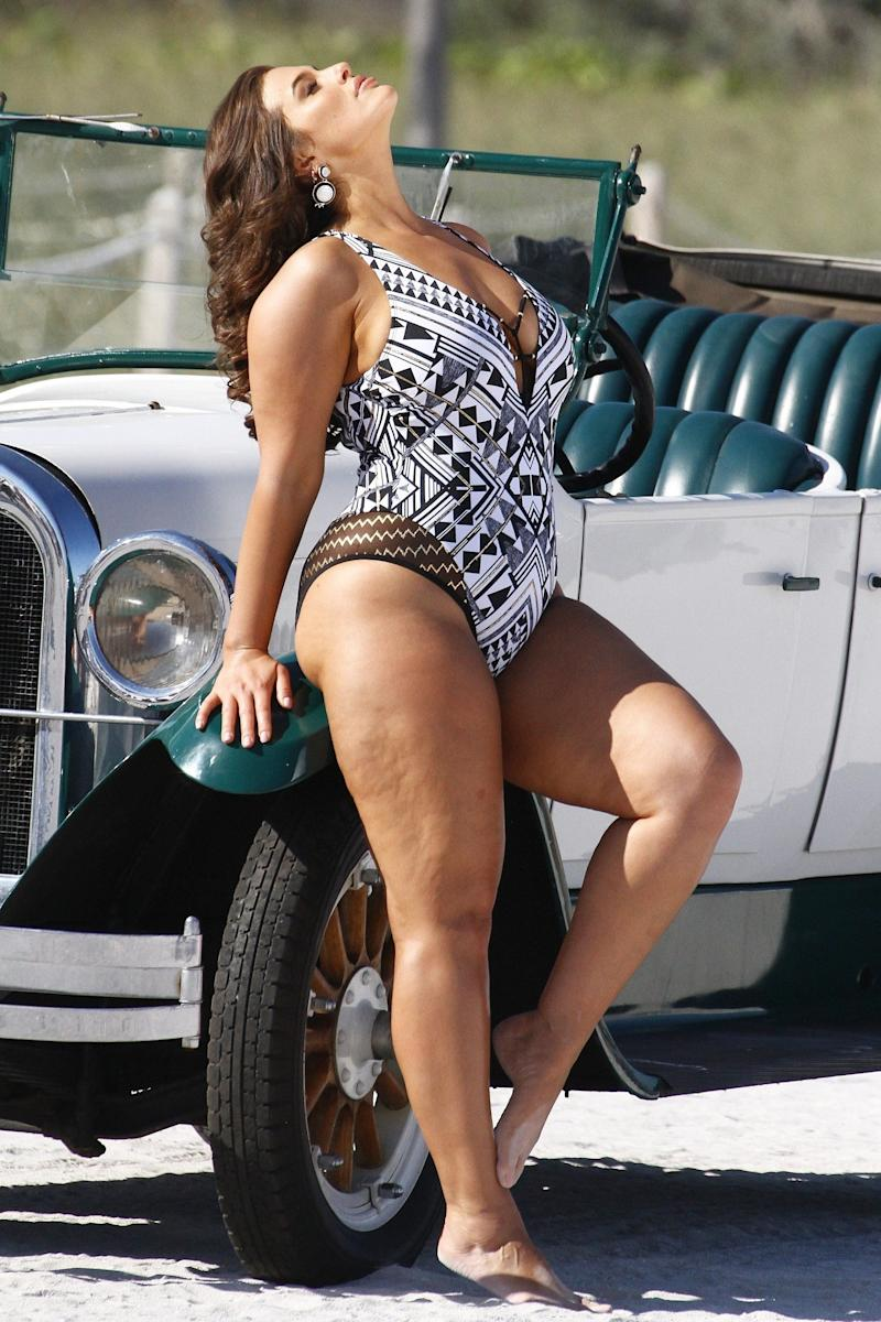 """$120. Get it <a href=""""https://www.swimsuitsforall.com/Ashley-Graham-x-Swimsuits-For-All-Roaring-Swimsuit#rrec=true"""" target=""""_blank"""">here</a>.&nbsp;"""