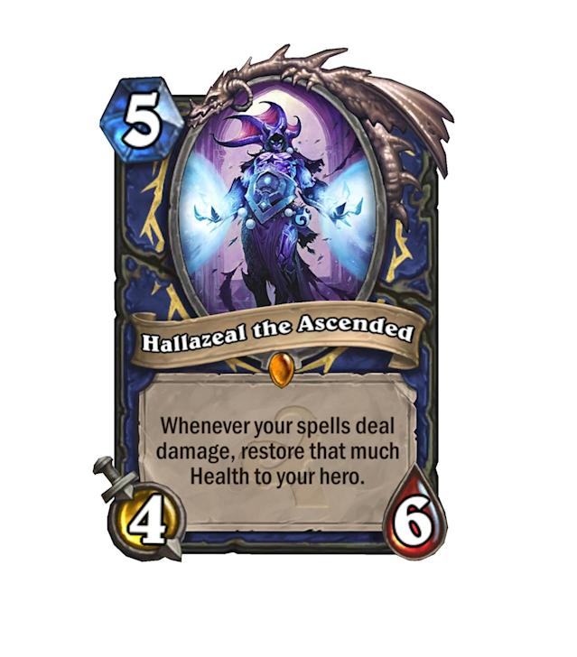 """<p>With all the Overload damage spells at the Shaman's disposal, you can bet that Hallazeal will drop those heals. Plus, he's downright dirty with <a href=""""http://hearthstone.gamepedia.com/Lightning_Storm"""" rel=""""nofollow noopener"""" target=""""_blank"""" data-ylk=""""slk:Lightning Storm"""" class=""""link rapid-noclick-resp"""">Lightning Storm</a>.</p>"""