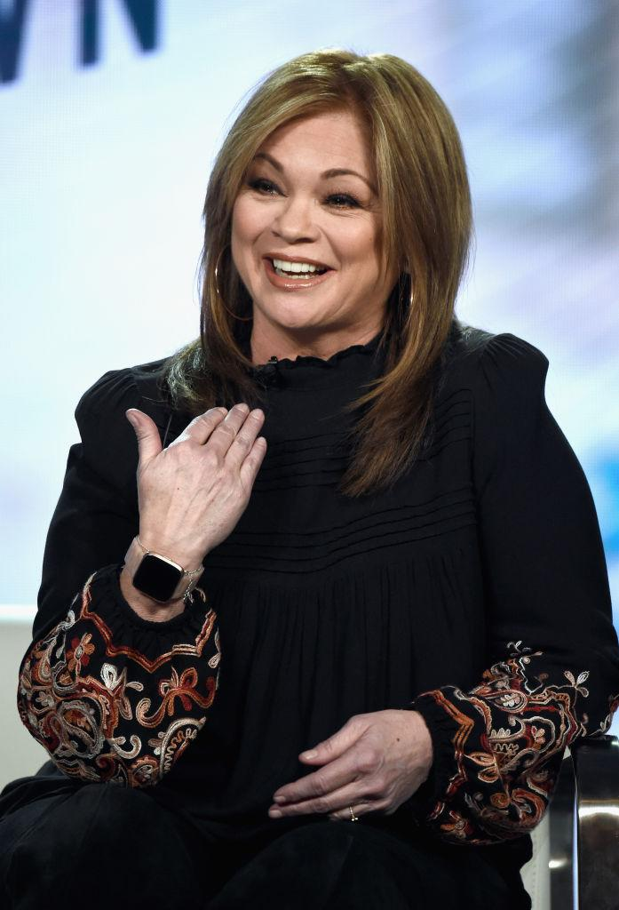 Valerie Bertinelli talks about the Food Network at the Winter 2019 TCA Tour on Feb. 12 in Pasadena, Calif. (Photo: Amanda Edwards/Getty Images for Discovery)