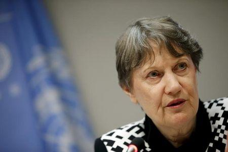 United Nations Development Programme (UNDP) Administrator Helen Clark speaks at a news conference at United Nations headquarters in New York, September 21, 2015. REUTERS/Mike Segar