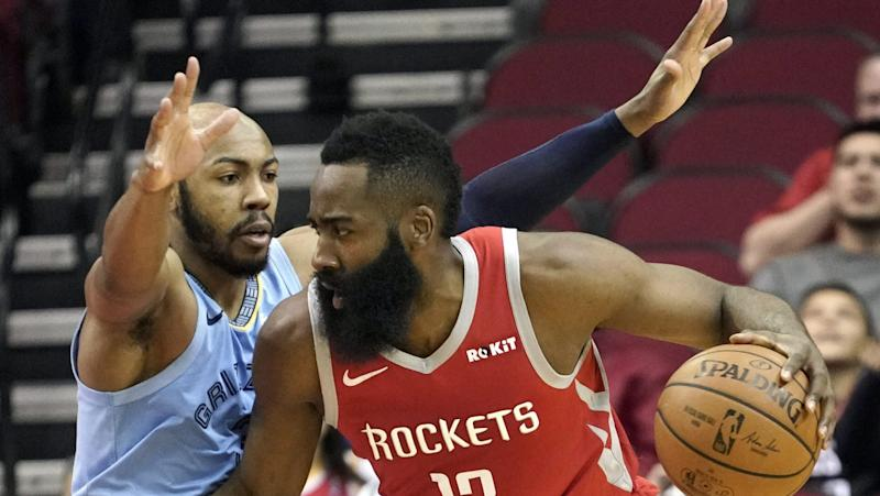 Harden's 57 points lead Rockets past Grizzlies
