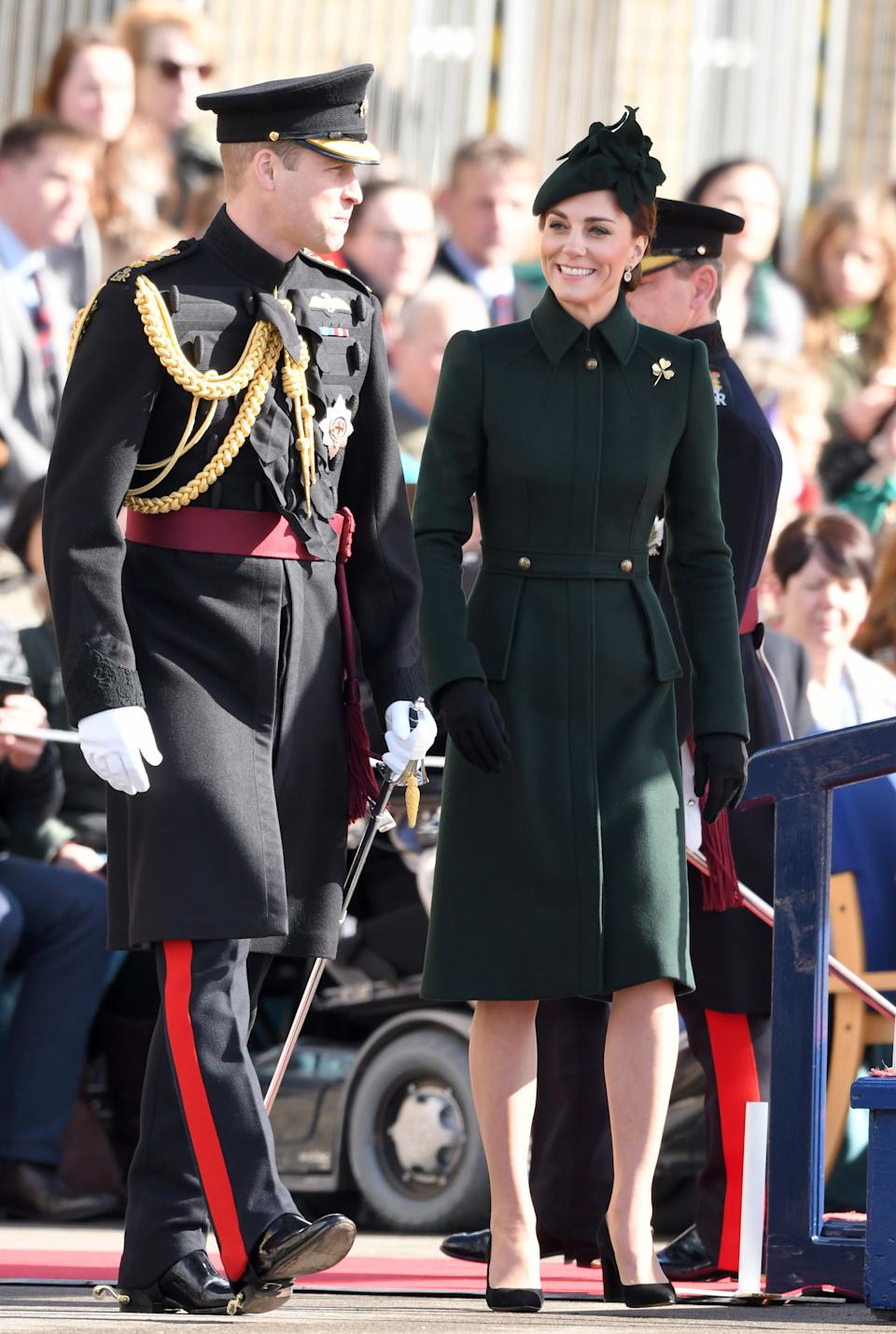 """<h1 class=""""title"""">The Duke And Duchess Of Cambridge Attend The Irish Guards St Patrick's Day Parade</h1><cite class=""""credit"""">Karwai Tang/WireImage</cite>"""