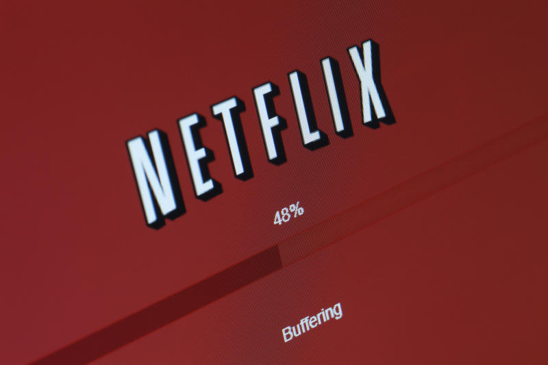 "San Diego, California, USA - March 21, 2011: A closeup of a movie or TV show buffering on a computer through Netflix's ""Watch Instantly"" service, which allows users to stream content directly to their computer or TV through the internet."