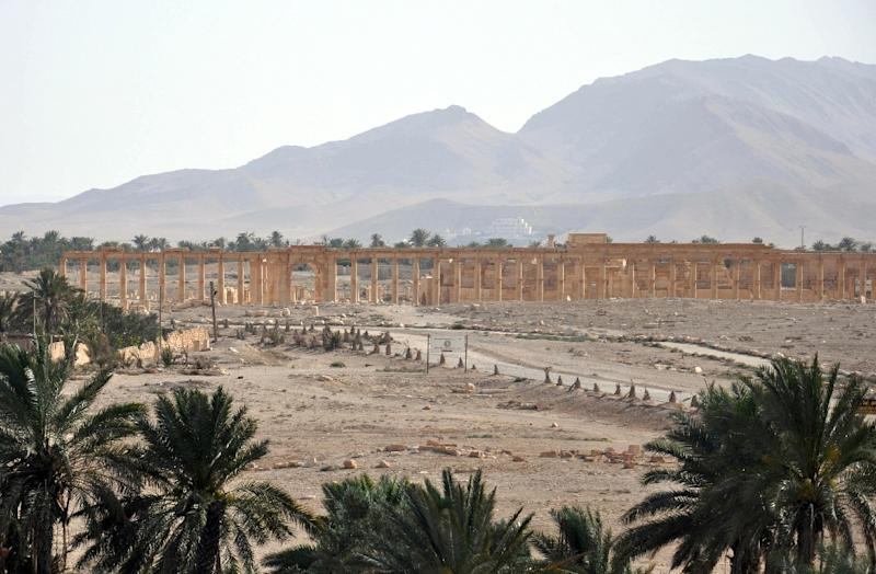 """UNESCO expressed its """"deep concern"""" that IS militants could destroy the World Heritage site of Palmyra in Syria, which they captured in May (AFP Photo/)"""