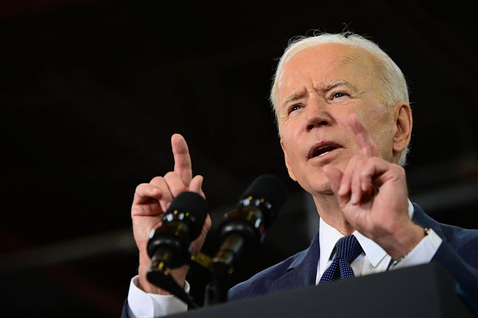 Biden said his new spending package was a 'once in a generation investment in America.' Photo: Jim Watson/AFP via Getty