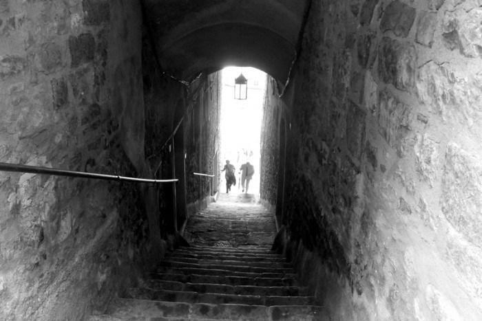 """<p>The stairs from Porto Venere's pier to the shops above — our first glimpse of this UNESCO World Heritage site.<br></p><p><i>(Photo: <a href=""""http://www.dtravelsround.com/"""" rel=""""nofollow noopener"""" target=""""_blank"""" data-ylk=""""slk:D Travels Round"""" class=""""link rapid-noclick-resp"""">D Travels Round</a>)</i><br></p>"""