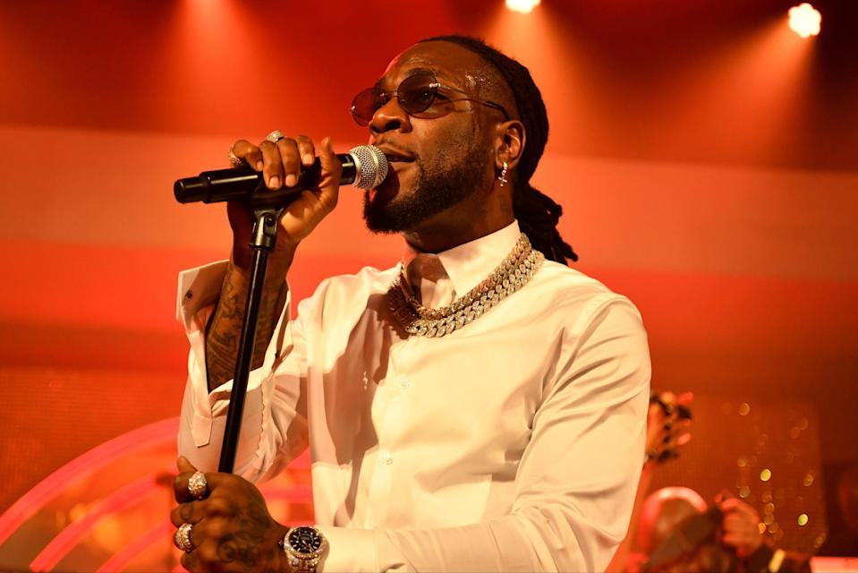 Burna Boy performing in Hollywood in January 2020Getty Images for Warner Music