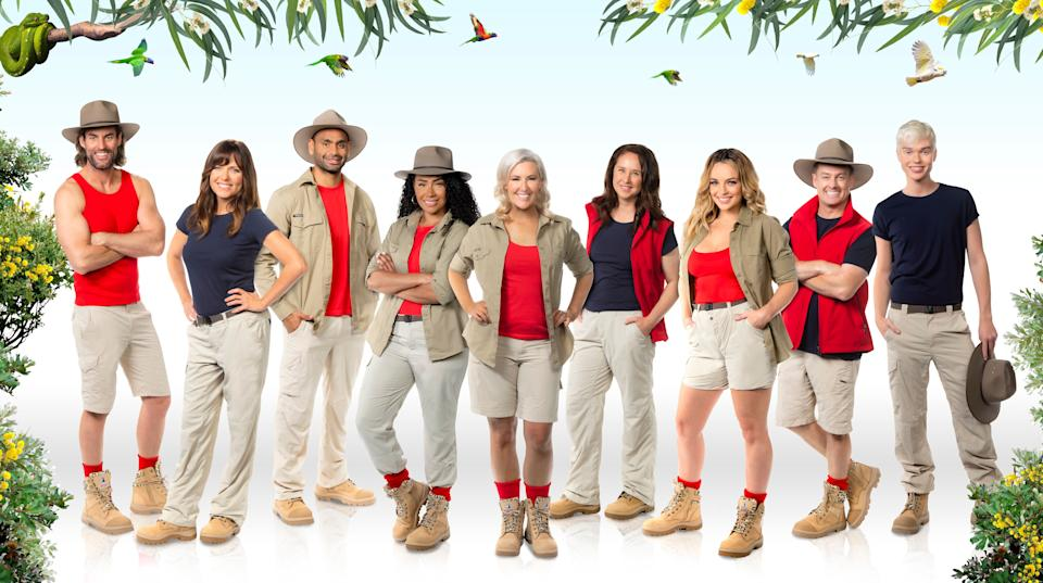 The cast of 'I'm A Celebrity... Get Me Out Of Here! Australia'  (Photo: Channel 10)