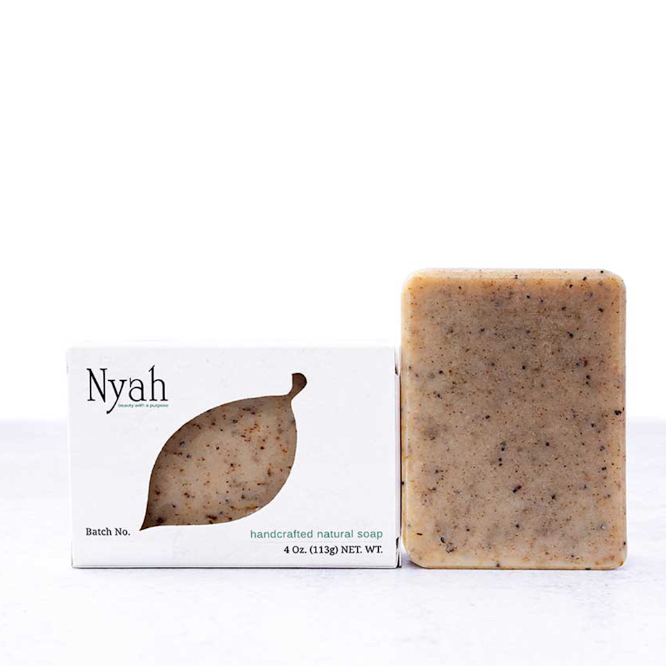 """<p><strong>Nyah Beauty</strong></p><p>nyahbeauty.com</p><p><strong>$8.00</strong></p><p><a href=""""https://nyahbeauty.com/collections/soap/products/wake-up-call-soap-1"""" rel=""""nofollow noopener"""" target=""""_blank"""" data-ylk=""""slk:Shop Now"""" class=""""link rapid-noclick-resp"""">Shop Now</a></p><p>Made for dry skin, this hand and body soap makes starting the day easier with the invigorating blend of peppermint leaves and poppy seed. The natural scent and ingredients are plant-based and handmade in Jersey. </p>"""