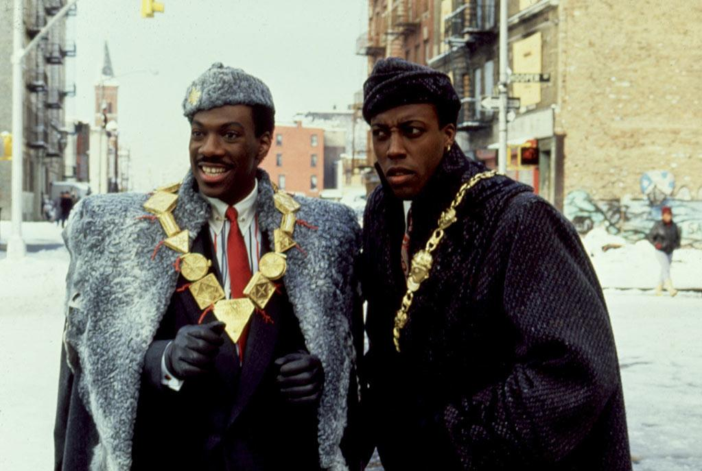 """<a href=""""http://movies.yahoo.com/movie/coming-to-america/"""">COMING TO AMERICA </a>(1988) <br>Directed by: John Landis <br>Starring: Eddie Murphy and Arsenio Hall"""