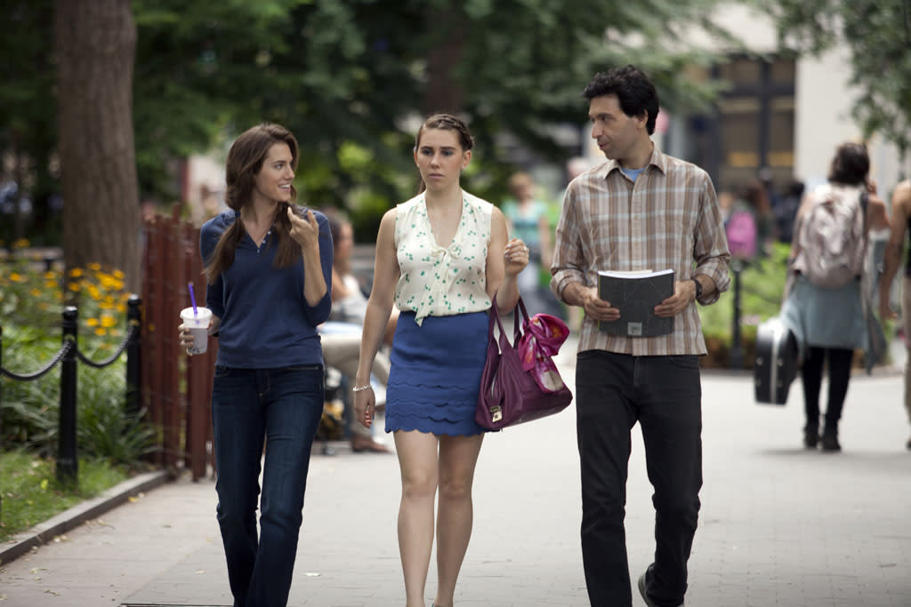 "Allison Williams, Zosia Mamet, and Alex Karpovsky in the ""Girls"" Season 2 episode, ""It's Back."""