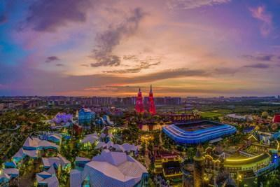 Changying Wonderland in Xiuying District, Haikou City, Hainan Province, China saw a big jump in visitors during the Chinese New Year holiday.