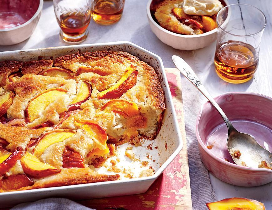 """<p>What could be a more perfect ending to a summertime meal than <a href=""""https://www.myrecipes.com/quick-and-easy"""" rel=""""nofollow noopener"""" target=""""_blank"""" data-ylk=""""slk:easy"""" class=""""link rapid-noclick-resp"""">easy</a> <a href=""""https://www.myrecipes.com/t/desserts/cobblers/peach-cobblers"""" rel=""""nofollow noopener"""" target=""""_blank"""" data-ylk=""""slk:peach cobbler"""" class=""""link rapid-noclick-resp"""">peach cobbler</a>? Savor the flavors of summer with sliced fresh peaches cooking away with butter and spices. The topping can made <a href=""""https://www.myrecipes.com/ingredients/starter-pantry-essentials-for-first-kitchen"""" rel=""""nofollow noopener"""" target=""""_blank"""" data-ylk=""""slk:from pantry ingredients"""" class=""""link rapid-noclick-resp"""">from pantry ingredients</a> you have on hand and peaches can easily be substituted with any fruit you have depending on the time of year. The tang of the lemon juice paired with the sweetness of the peaches is perfectly balanced with the crisp topping. Want to make dessert even better? A dollop of fresh whipped cream or cold vanilla ice cream truly makes it the perfect way to end a <a href=""""https://www.myrecipes.com/cooking-method/slow-cooker-recipes/summer-slow-cooker-recipes"""" rel=""""nofollow noopener"""" target=""""_blank"""" data-ylk=""""slk:summer night"""" class=""""link rapid-noclick-resp"""">summer night</a>.</p>"""