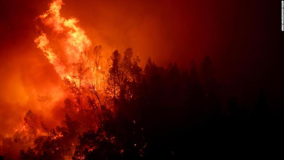 """<p>The fast moving Glass Fire has burned more than 11,000 acres and prompted evacuations.</p><div class=""""cnn--image__credit""""><em><small>Credit: Justin Sullivan/Getty Images / Getty Images</small></em></div>"""