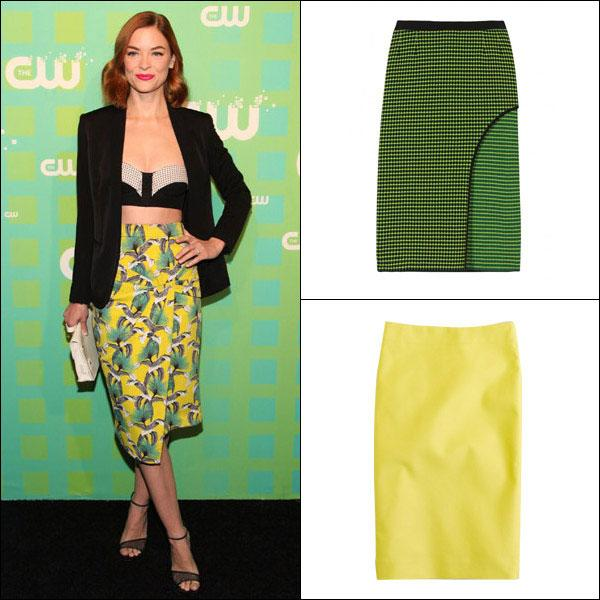 "<div class=""caption-credit""> Photo by: Harper's Bazaar</div><div class=""caption-title"">Jaime King's Retro Pencil Skirt</div>Get inspired by King's covetable Proenza Schouler look and take the pencil skirt out of the office and onto the dance floor. The trick is choosing a bold color and pairing it with something playful. <br> <br> <b>Shop it: Kenzo</b> skirt, $605, <a rel=""nofollow"" href=""http://www.mytheresa.com/us_en/checkered-woven-skirt.html?link=emb&dom=yah_life&src=syn&con=blog_blog_hbz&mag=har"" target=""_blank"">mytheresa.com;</a> <b>J.Crew</b> pencil skirt, $70, <a rel=""nofollow"" href=""http://www.jcrew.com/womens_category/skirts/pencil/PRDOVR%7E59369/59369.jsp?link=emb&dom=yah_life&src=syn&con=blog_blog_hbz&mag=har"" target=""_blank"">jcrew.com</a>. <br> <br> <b><a rel=""nofollow"" href=""http://www.harpersbazaar.com/beauty/makeup-articles/quick-beauty-tips-0211?link=emb&dom=yah_life&src=syn&con=blog_blog_hbz&mag=har"" target=""_blank"">READ MORE: 5 Minute Beauty Fixes</a></b> <br>"