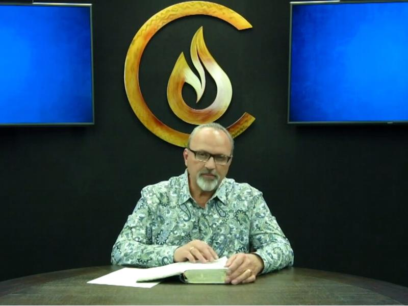 Pastor Paul Van Noy during an online service for the Candlelight Christian Fellowship in April ((Candlelight Christian Fellowship))