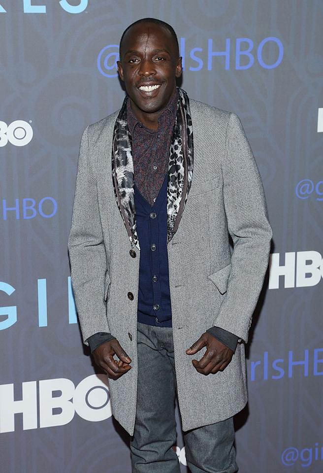 "Michael K. Williams attends HBO's premiere of ""Girls"" Season 2 at the NYU Skirball Center on January 9, 2013 in New York City."