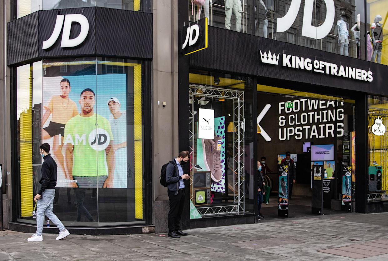 JD Sports shares surge to all-time high on profit upgrade