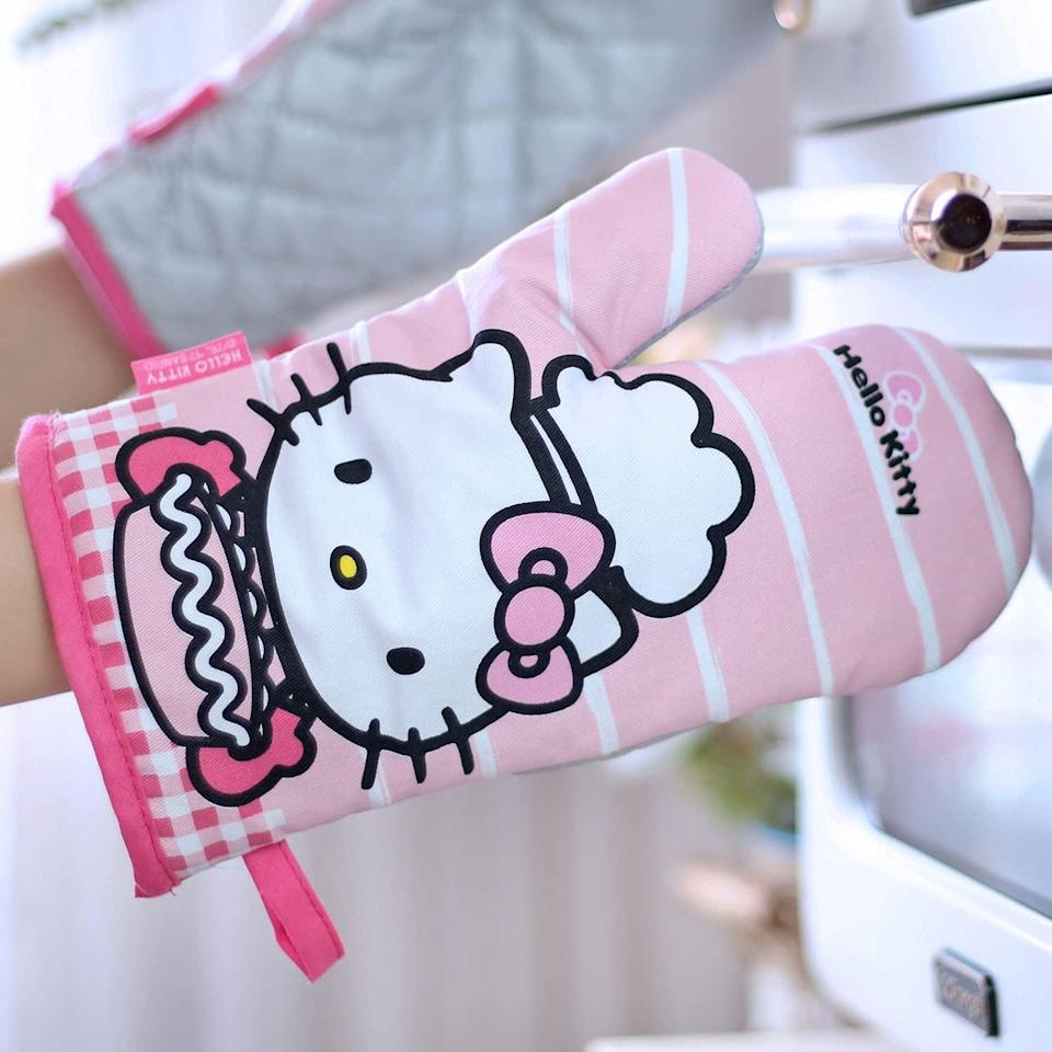 <p>The <span>CHEFMADE Hello Kitty Oven Mittst</span> ($24) are the perfect set of hands for their baking adventures. They are thick durable and can handle everything from outdoor BBQs to grabbing a dish out of the oven. </p>